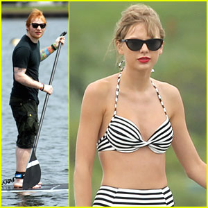 Taylor Swift & Ed Sheeran: Paddleboarding Pair