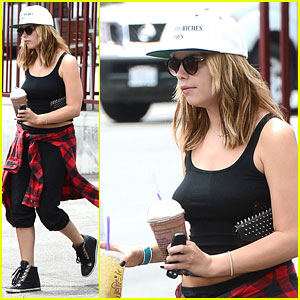 Ashley Benson Steps Out Before Shocking 'PLL' Summer Finale
