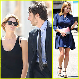 Ashley Greene: 'Wish I Was Here' Set with Zach Braff