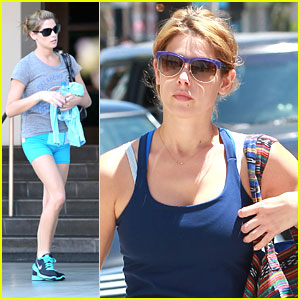 Ashley Greene: Outfit Change for Weekend Workout