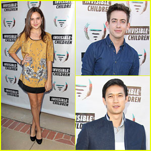Bailee Madison: Invisible Children Summit with Kevin McHale & Harry Shum, Jr.