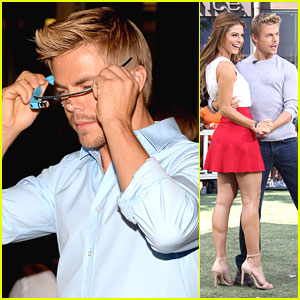 Derek Hough Dances with Fans at The Grove