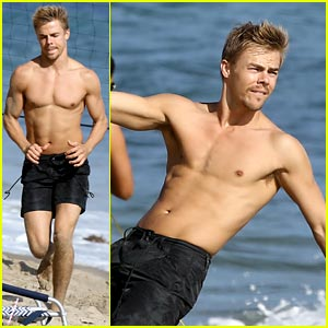 Derek Hough: Shirtless Volleyball Player!