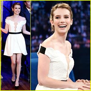 Emma Roberts: 'Late Night with Jimmy Fallon' - Watch Now!