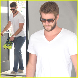 Liam Hemsworth: Outfit Switch at the Gym!