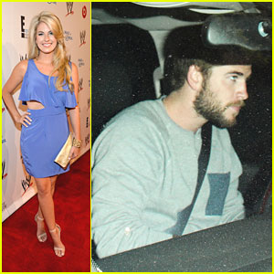 Liam Hemsworth Works Out; Stephanie Leigh Schlund Supports WWE