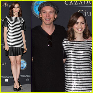 Lily Collins & Jamie Campbell Bower: 'Mortal Instruments' Mexico City Photo Call