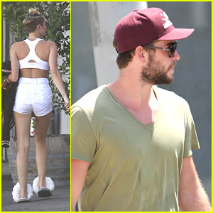 Miley Cryus Talks Growing Her Hair Long; Liam Hemsworth Hits The Gym