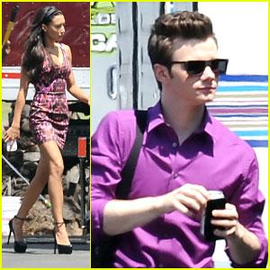 Naya Rivera & Chris Colfer: Back on 'Glee Set' After Teen Choice Awards
