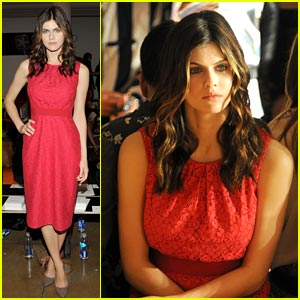 Alexandra Daddario: Front Row at Peter Som!