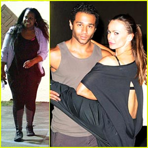 Amber Riley & Corbin Bleu: Fan Friendly After 'Dancing with the Stars' Rehearsals!
