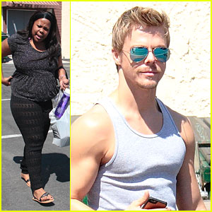 Amber Riley & Derek Hough: 'DWTS' Practice Before 'Ellen' Appearance