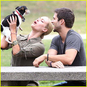 Brant Daugherty & Peta Murgatroyd: Dog Walk in the Park