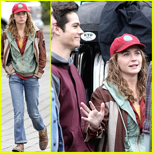 Britt Robertson & Dylan O'Brien: 'Tomorrowland' Set with George Clooney