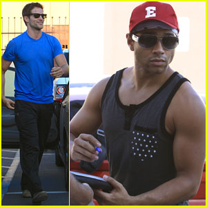 Corbin Bleu: 'High School Musical' Hat at 'DWTS' Rehearsal!