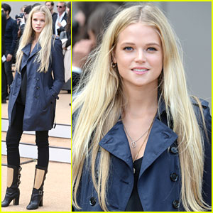 Gabriella Wilde: Pregnant Baby Bump at Burberry Fashion Show
