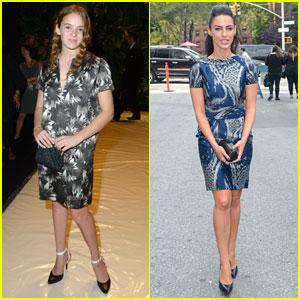 Jessica Lowndes & Morgan Saylor: Naeem Khan Fashion Show