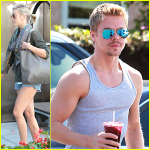 Julianne Hough Goes Out in NYC; Derek Hough Talks 'DWTS'