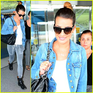 Lea Michele Keeps Cory Monteith Close to her Heart in NYC