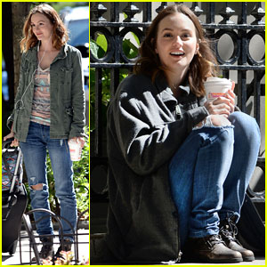 Leighton Meester: 'Like Sunday, Like Rain' Filming