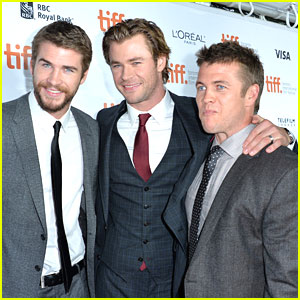 Liam Hemsworth: 'Rush' Premiere at TIFF 2013 with Brother Chris!