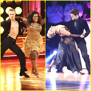 Amber Riley & Brant Daugherty Grab 10s on DWTS Week 6!