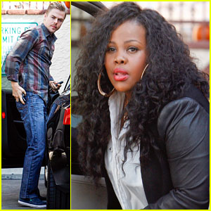 Amber Riley & Derek Hough: Post-Tango 'DWTS' Rehearsal