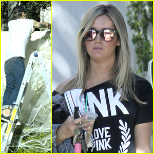 Ashley Tisdale & Christopher French: Halloween Decorating!