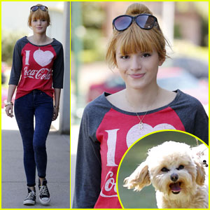 Bella Thorne: Casual Walk with Pup Kingston!