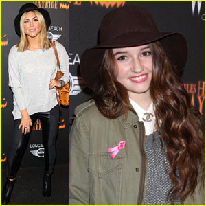 Cassie Scerbo & Kaitlyn Dever: Haunted Hayride Premiere Night