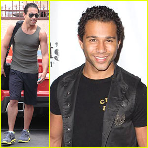 Corbin Bleu: Knott's Scary Farm After DWTS Practice