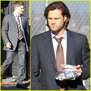 Jared Padalecki & Jensen Ackles: Suits on 'Supernatural' Set