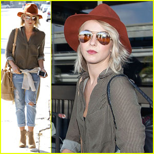 Julianne Hough: Melrose Place Lunch After Airport Arrival