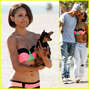Kat Graham: Bikini Kisses with Cottrell Guidry!