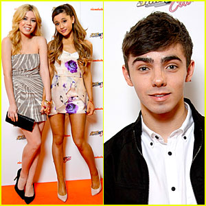 Nathan Sykes Supports Ariana Grande at 'Sam & Cat' Premiere!