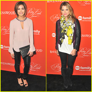 Nicole Anderson & Ashley Benson: PLL Halloween Screening