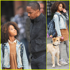 Quvenzhane Wallis: 'Annie' Filming with Sandy!