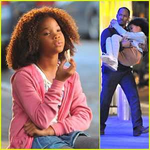 Quvenzhane Wallis: Rescued by Jamie Foxx on 'Annie' Set