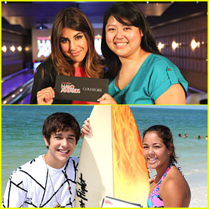 Austin Mahone & Daniella Monet Surprise Halo Honorees!