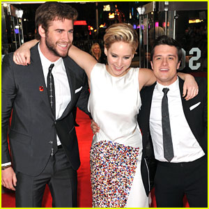Josh Hutcherson & Liam Hemsworth: 'Catching Fire' London Premiere