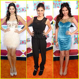 Amber Montana & Kira Kosarin - TeenNick HALO Awards 2013