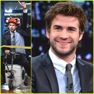 Liam Hemsworth: Cooler Race on 'Late Night with Jimmy Fallon'