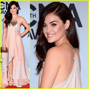 Lucy Hale: CMA Awards 2013 Red Carpet