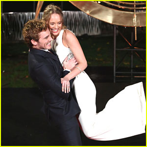 Sam Claflin & Laura Haddock: 'Catching Fire' Premiere in London!