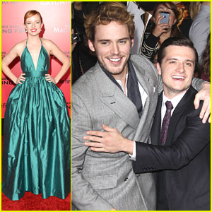 Sam Claflin & Stef Dawson: 'The Hunger Games: Catching Fire' L.A. Premiere