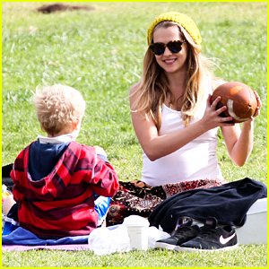 Teresa Palmer: Football Fun with Mark & Isaac Webber