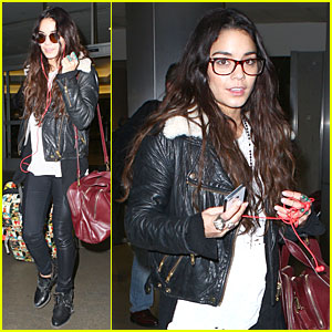 Vanessa Hudgens Sports Eyeglasses at LAX Airport