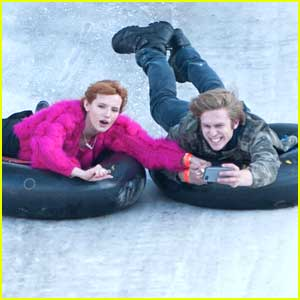 Bella Thorne & Tristan Klier: Snow Tubbing at Big Bear After Christmas!