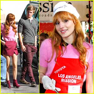 Bella Thorne & Tristan Klier Serve Christmas Dinner at L.A. Mission