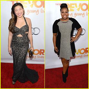 Jenna Ushkowitz & Amber Riley: TrevorLive LA 2013